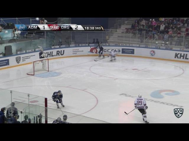 КХЛ (Континентальная хоккейная лига) - Моменты из матчей КХЛ сезона 16/17 - Гол. 1:3. Толузаков Фили