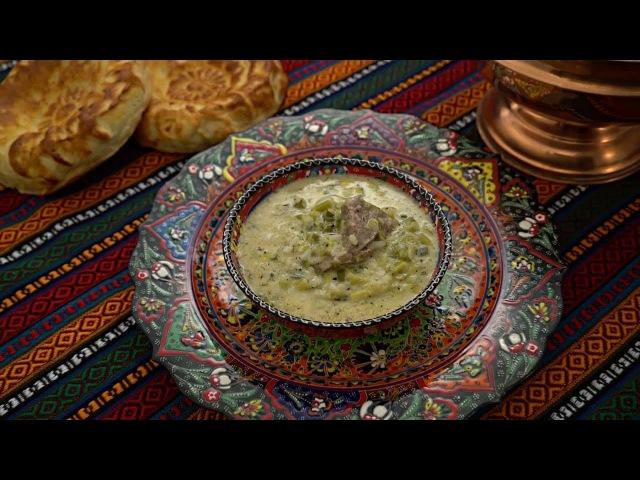 Турецкий йогуртовый суп с чесноком
