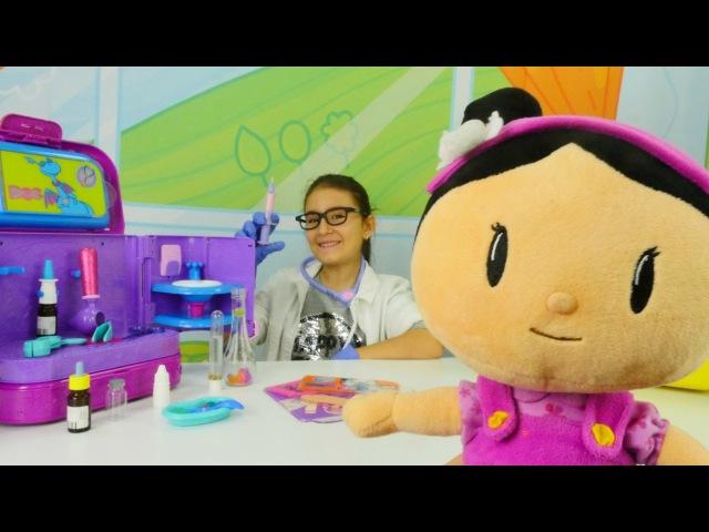 Hasta Oyunu Dottie doktor çanta Şila HASTA Kız oyunları Evcilik oyuncakları Oyuncak bebek