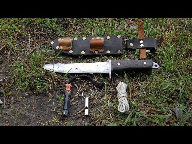 Нож для выживания из старого напильника