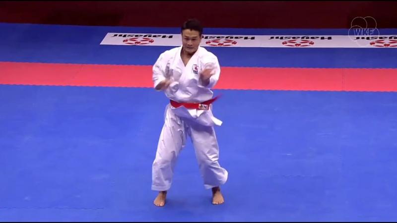 Финал инд. ката: Иссей Шимбаба (Япония) - Дэмиан Куинтеро (Испания)