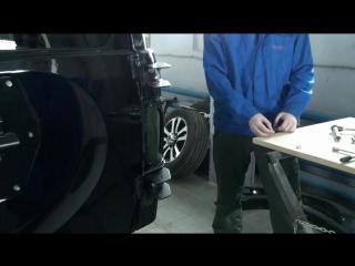 Видеоинструкция по установке калитки запасного колеса от АВС-ДИЗАЙН