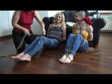 Super Ticklish Mom and Daughter Bound and Gagged
