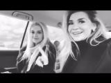 Миша Романова и Эрика Герцег едут в машине