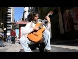 Spanish Guitar Street Performer - Buenos Aires, Argentina (Zapada Flamenco - Paco de Lucia)
