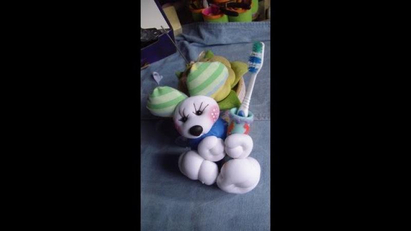Muñecos Soft....ratón porta cepillo de dientes 1/2... proyecto 51