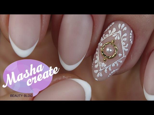 Простой Дизайн ногтей Френч Простой Свадебный дизайн ногтей Обзор GGA professional
