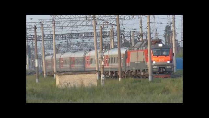 ЭП20-034 с фирменным поездом 030С Москва — Новороссийск