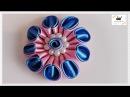 Kwiat ze wstążki 🌼kanzashi 🌼 jak wykonać🌼krok po kroku🌼89