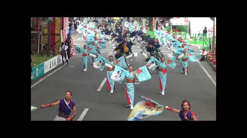 さぬき舞人「GENNAI」高知よさこい(追手筋本部競演場)H29.8.11