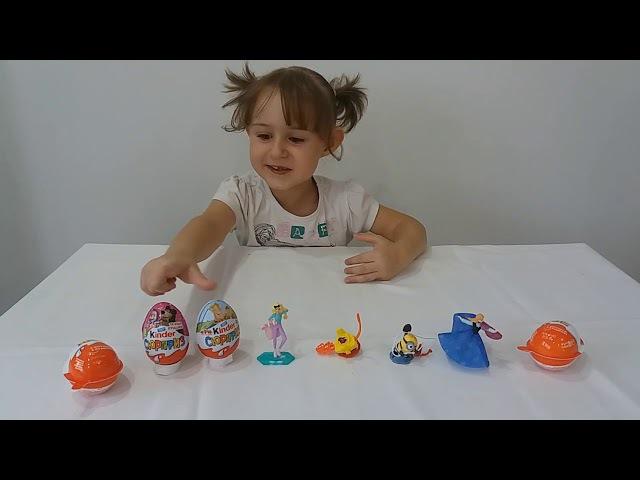 Миньоны, Маша и Медведь, Три Богатыря, Барби Киндер сюрприз игрушки