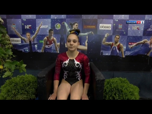 2017 World Cup Osijek - Ioana Crisan (ROU) BB EF SPORTV2