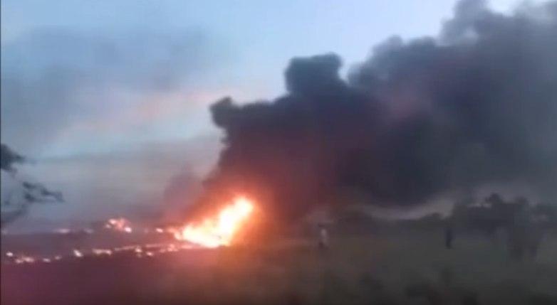 Колумбийский Boeing, чуть не влетевший в людей, попал на видео