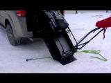 Погрузка мотобуксировщика Baltmotors Snowdog в багажник в одиночку