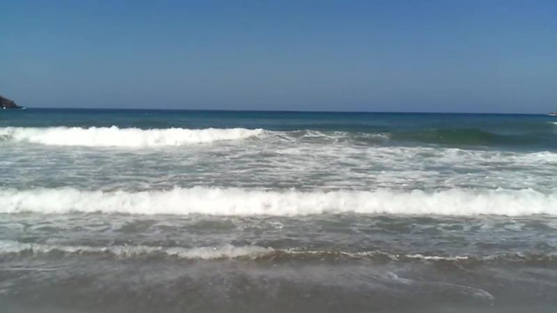 Критское море, волны, шум прибоя. Релакс.