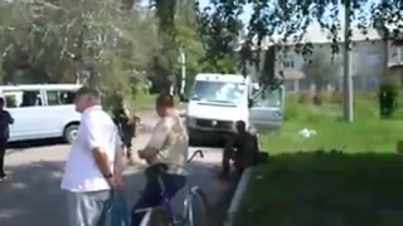 Дзержинск.21 июля,2014.Последствия боя в городе