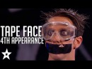 Tape Face 4th Appearance | America's Got Talent 2016 Finalist | Got Talent