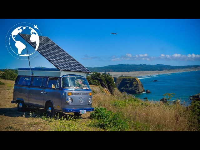 This is a Fully Solar Powered Electric VW Bus