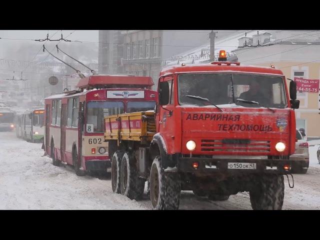 Вятка зимой (снегопад в Кирове 20 апреля 2018 г.)