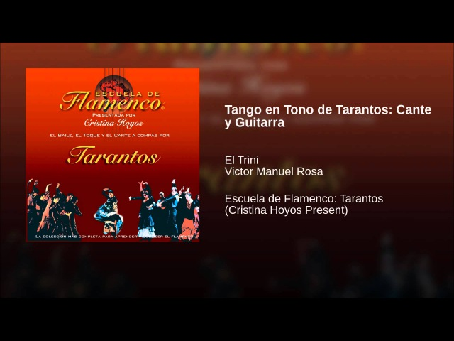 Tango en Tono de Tarantos: Cante y Guitarra