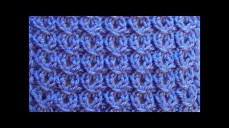Ажурный узор Колечки Вязание спицами Видеоурок 39