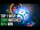 Top 1 IO Player Dotabuff - 2800 Matches - 85 Win - Wisp Arcana Dota 2