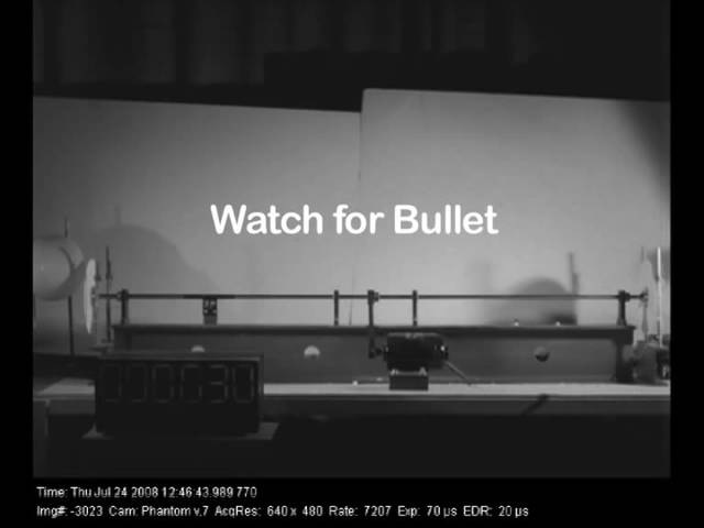 Скорость пули измерение скорости пули MIT Physics Demo Speed of a Bullet crjhjcnm gekb bpvthtybt crjhjcnb gekb mit physics