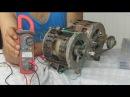 Generador Electrico Con un Motor quemado-- Electric generator with washing machine engine Burne