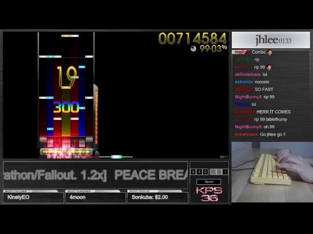 ★9 92 PEACE BREAKER Marathon Fallout 1 2x 98 18% 32Miss osu mania