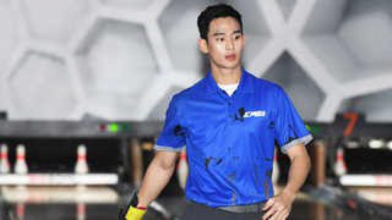 한류스타 김수현, 프로볼러 도전…230점 안팎 빼어난 기량