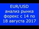 EUR/USD - Еженедельный Анализ Рынка Форекс c 14 по 18.08.2017. Анализ Форекс.