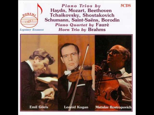Haydn - Trio for Piano, Violin and Cello in D major, Hob.XV:16 - I. Allegro