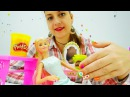 Салон красоты с Барби Красивый Маникюр из пластилина ПЛЕЙ ДО Play DOH nails. Игры для девочек