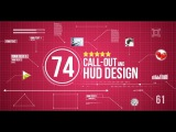 74 Call Out and Hud Design Pack After Effects project