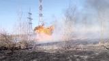 Пожар на дачах под ЛЭП. Май 2017. Братск