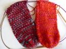 Nadelspiel Sockenkalender * 2 Socken gleichzeitig stricken * Ferse Teil 2