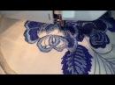 Вышивка на швейной машинке в стиле ГЖЕЛЬ ☘️Sewing Machine Embroidery☘️Freihandsticken Nähmaschine