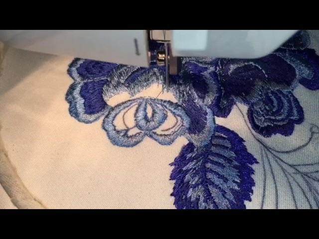 Вышивка на швейной машинке в стиле ГЖЕЛЬ☘️Sewing Machine Embroidery☘️Freihandsticken Nähmaschine