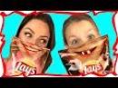 ОБЫЧНАЯ ЕДА против ЧИПСОВ Челлендж Жареный Лук и Пицца 4 Сыра Видео для Детей Вики Шоу