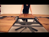 Amazing new extendable table by Ozzio - Italian space saving furniture