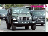 Paris Jackson Rides Shotgun With A Small Dog In Her Hippy Jeep Wrangler 5.8.17