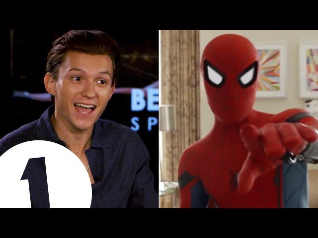 I'm a walking meme!: Spider-Man's Tom Holland on the 'Quackson Klaxon'.