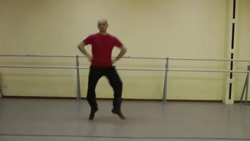 Комбинация ковырялочки с падебаском,народные танцы,САМОПЛЯС