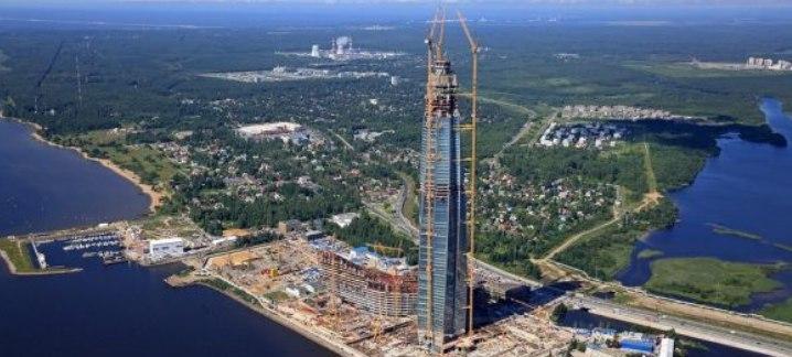 Строящийся «Лахта центр» стал самым высоким зданием Европы (видео)