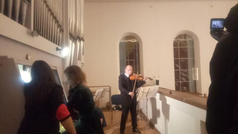 Захарий Зорин (Франция) и Елена Удрас(Украина) - КирхаМоменты концерта5.10.17