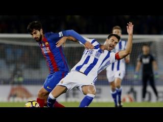 Реал Сосьедад - Барселона 1:1. Обзор матча. Чемпионат Испании 2016/17. 13 тур.