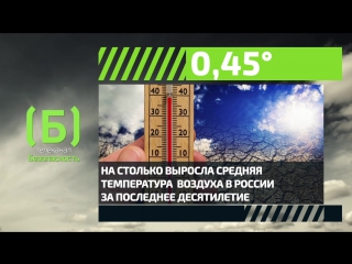 Как выросла средняя температура воздуха в России за последнее десятилетие?