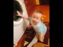 Тема и стиральная машинка10 мес.