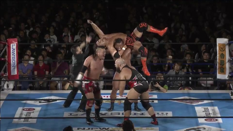 Michael Elgin, Katsuya Kitamura vs. Satoshi Kojima, Hiroyoshi Tenzan (NJPW - G1 CLIMAX 27 - Day 5)