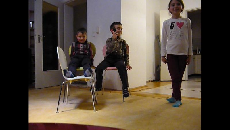 КВН Пирамида/ пародия дубль 3 :-) Беттина, Эмиль и Марсель Багаевы/ Мюнхен декабрь 2012
